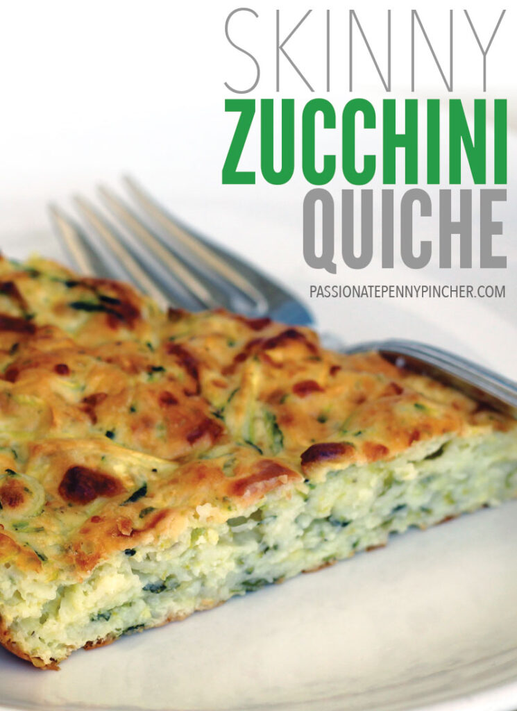 Zucchini Quiche Finished on a Plate