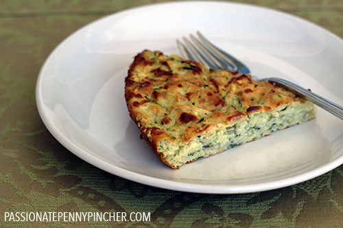 Skinny Zucchini Quiche Recipe on Plate