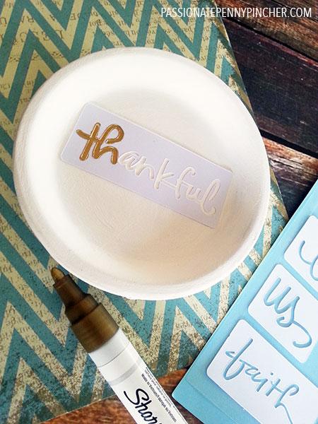 Adding Stencil to Trinket Tray