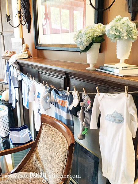 Unique Baby Shower Gifts (Clothes on Clothesline)
