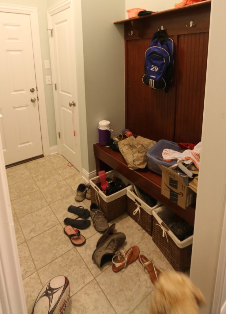 Mudroom Makeover Before Image