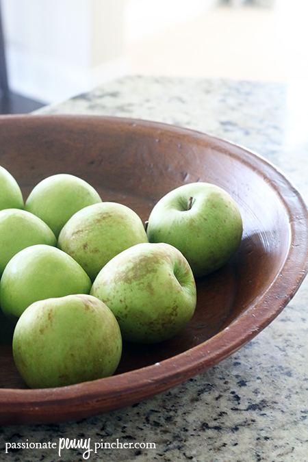 Southern Living Chunky Apple Cake Granny Smith Apples in a Bowl