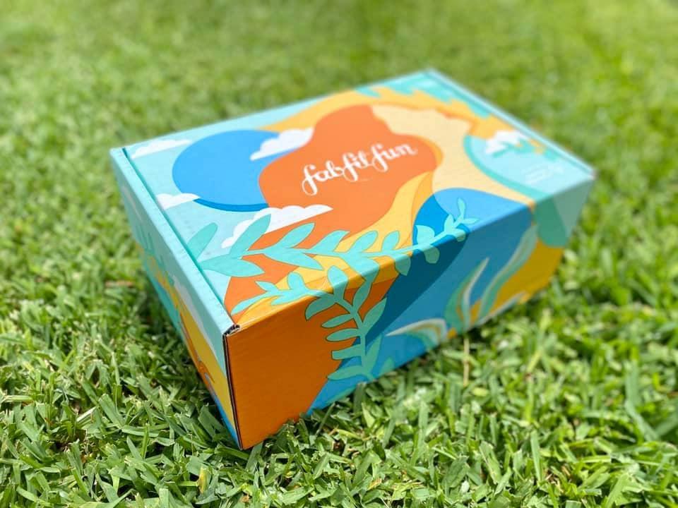 box on grass