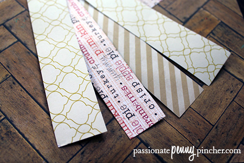 crafting strips of paper