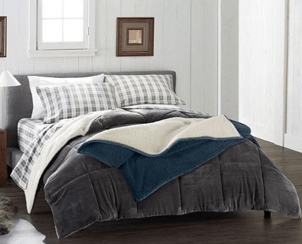 Kohl S Cuddlduds Cozy Soft Comforter Or Queen Flannel Sheet Set 40 Reg 160