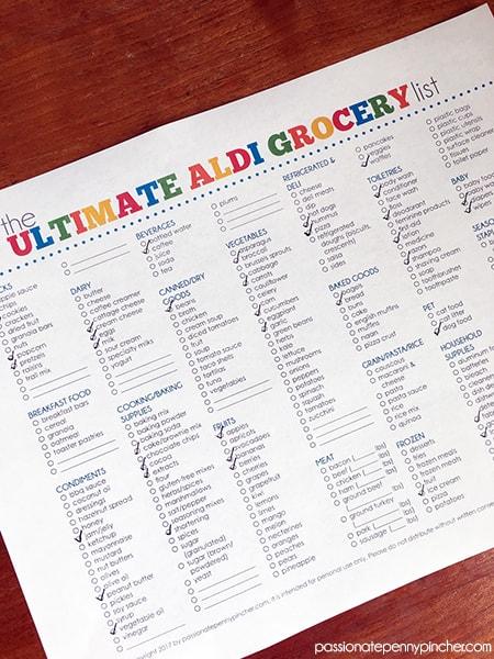 Ultimate Aldi Grocery List