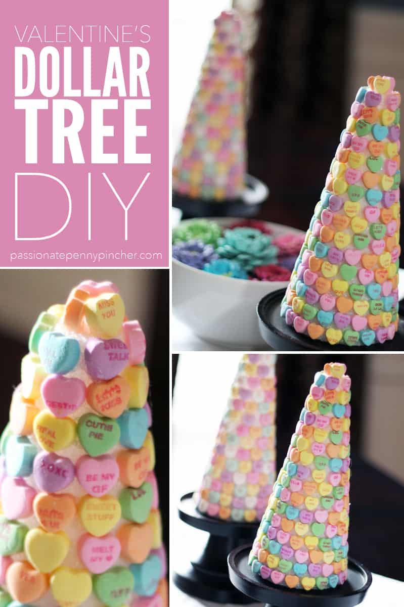 Dollar Tree Valentines DIY Candy Heart Tree