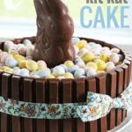 Easter Bunny kit-kat cake