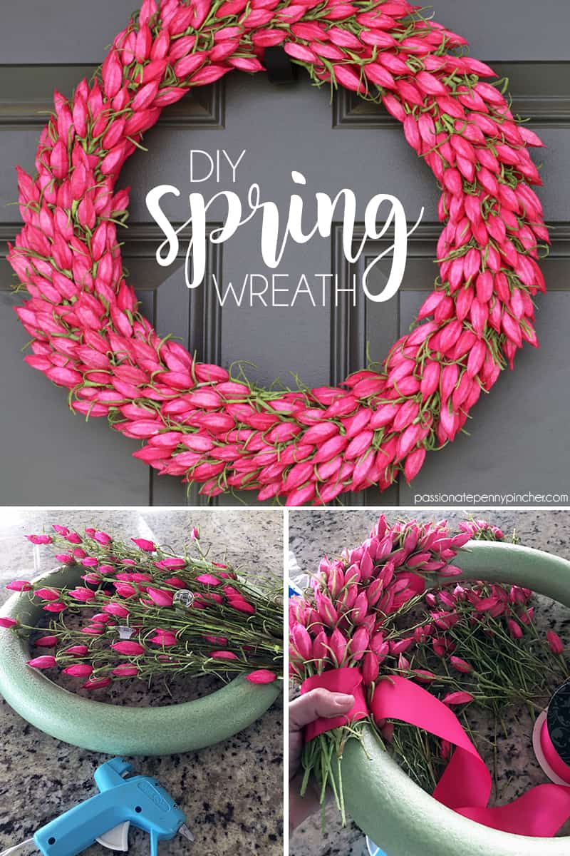 DIY Spring Wreath with Tulips