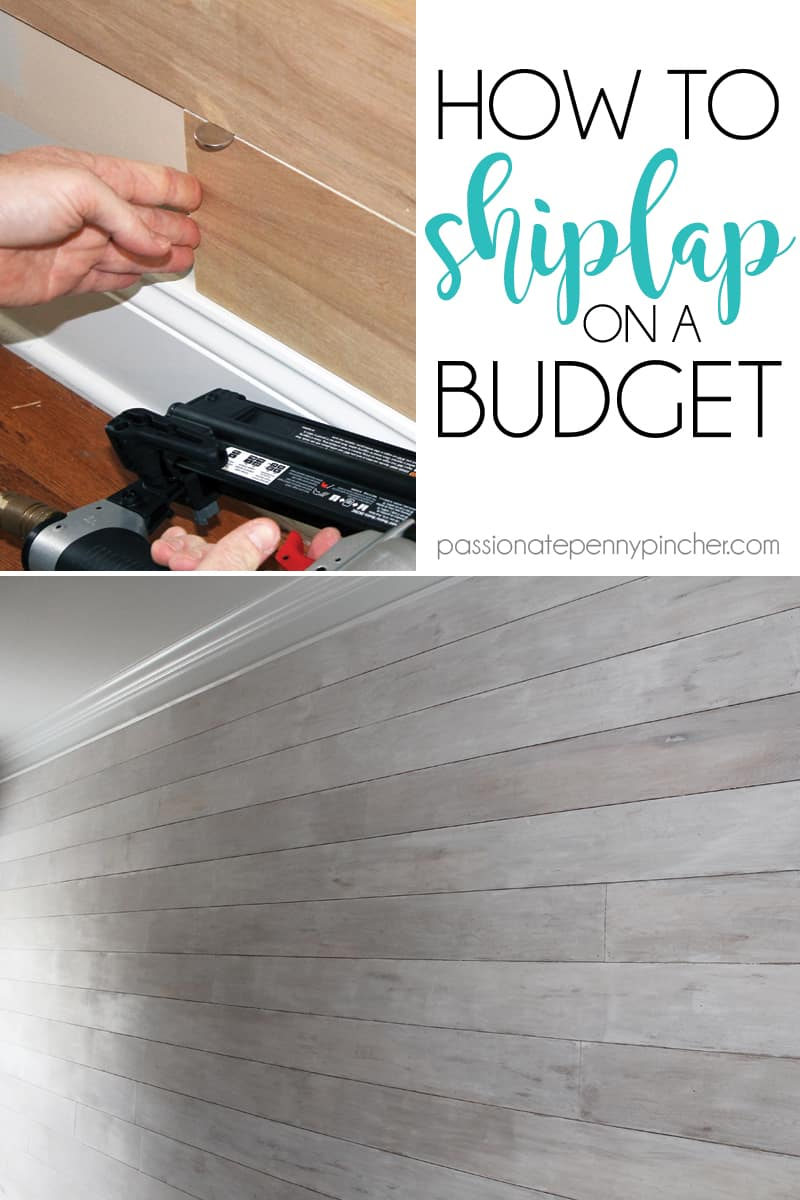 How to do Shiplap Cheap