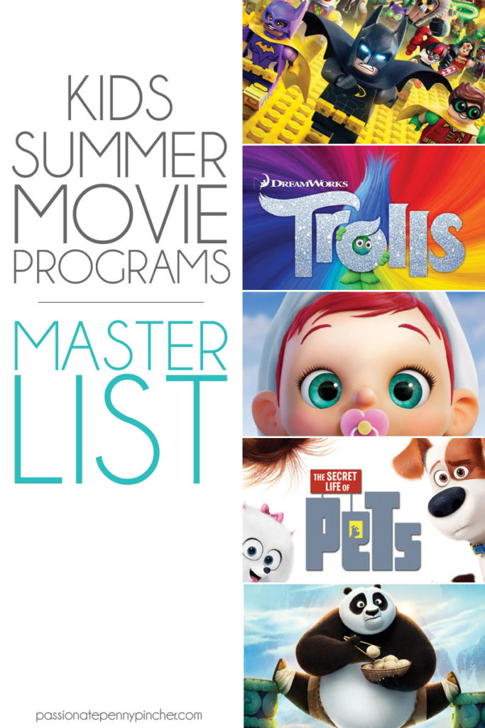 kids summer movie programs master list