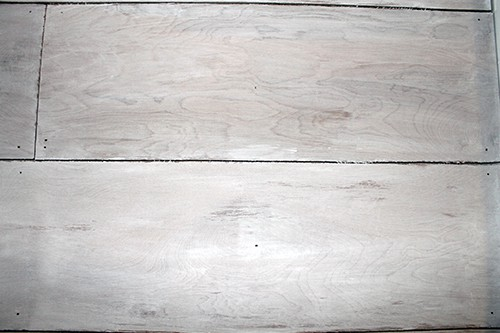 Shiplap with Wax paint finish