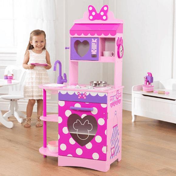 Kidkraft Disney Jr Minnie Mouse Toddler Kitchen Play 76 15 Lowest Price