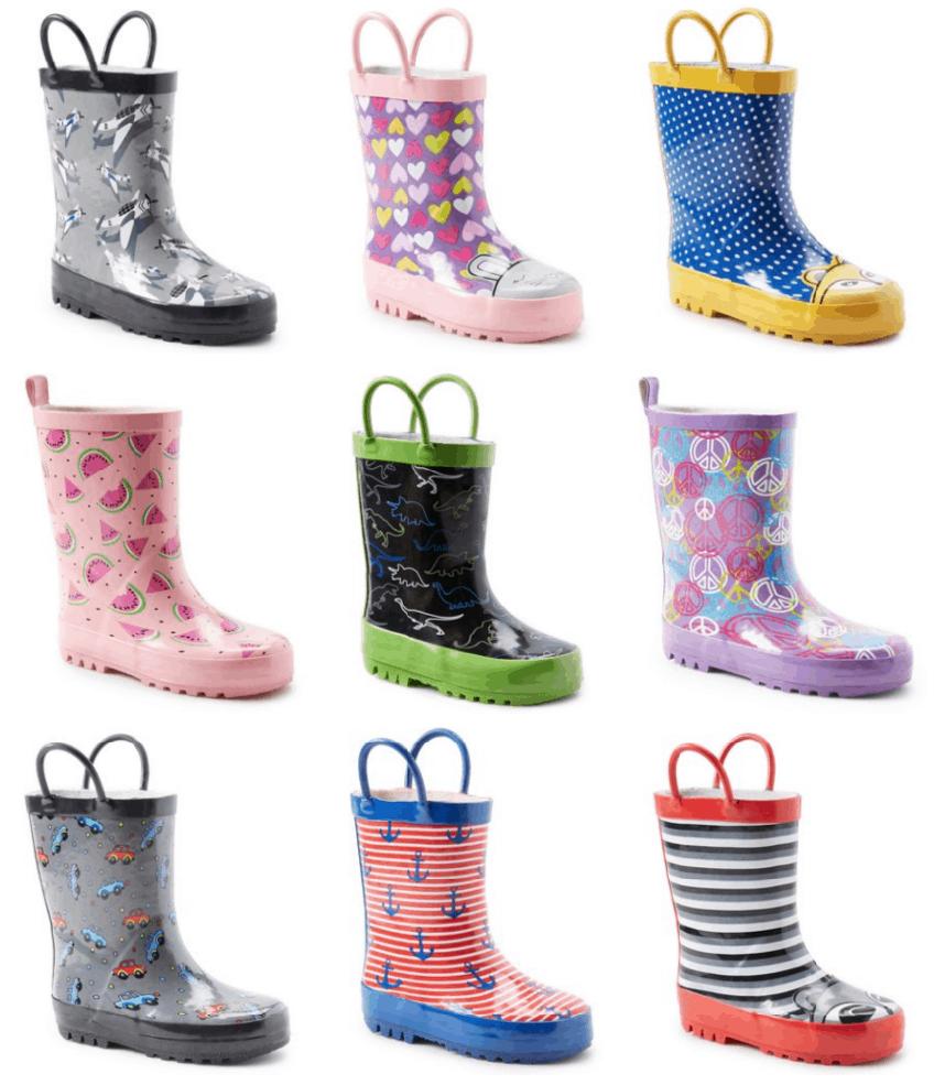 70% Off Kids Rain Boots At Zulily