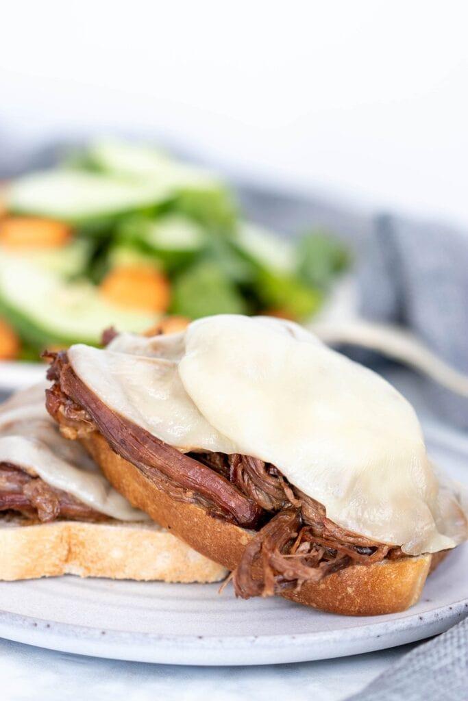 Open Faced Sirloin Steak Sandwiches