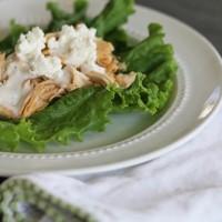 Crock-tober Day 3 - Buffalo Chicken Lettuce Wraps