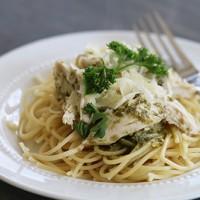 Crock-tober Day 17 - Slow Cooker Pesto & Ranch Chicken