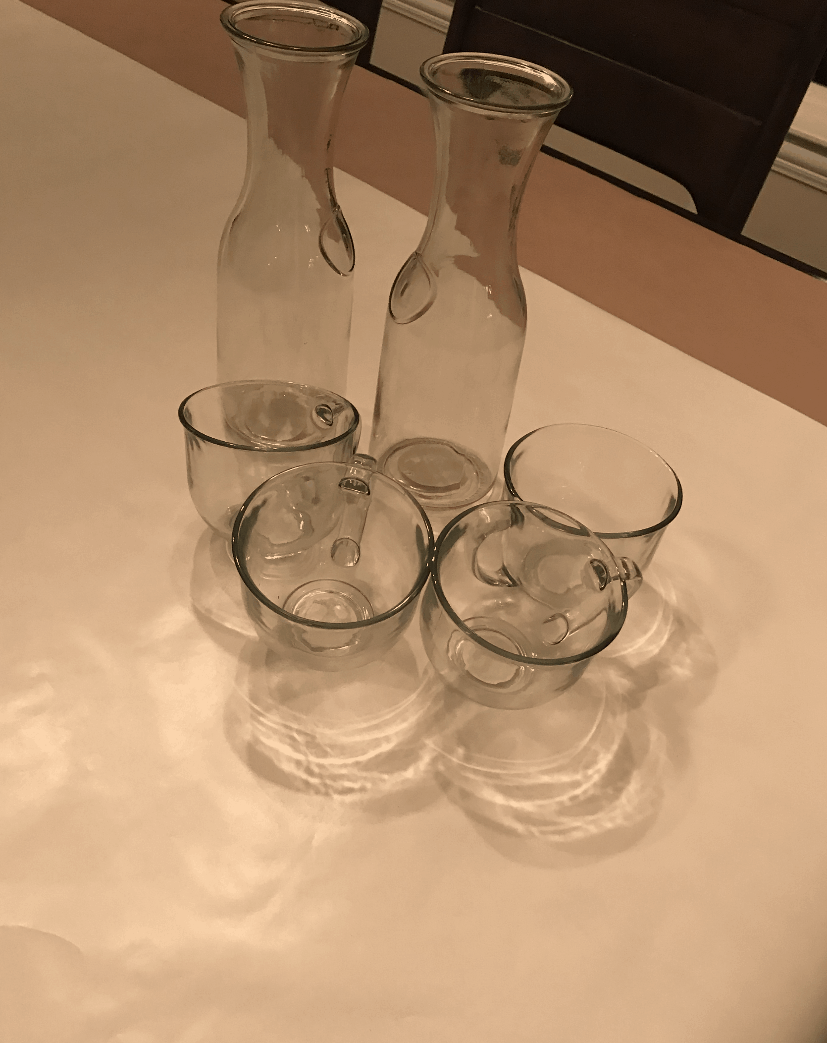 Glass Vases from Dollar Tree