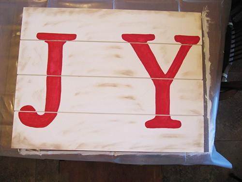 Easy Farmhouse Christmas Sign