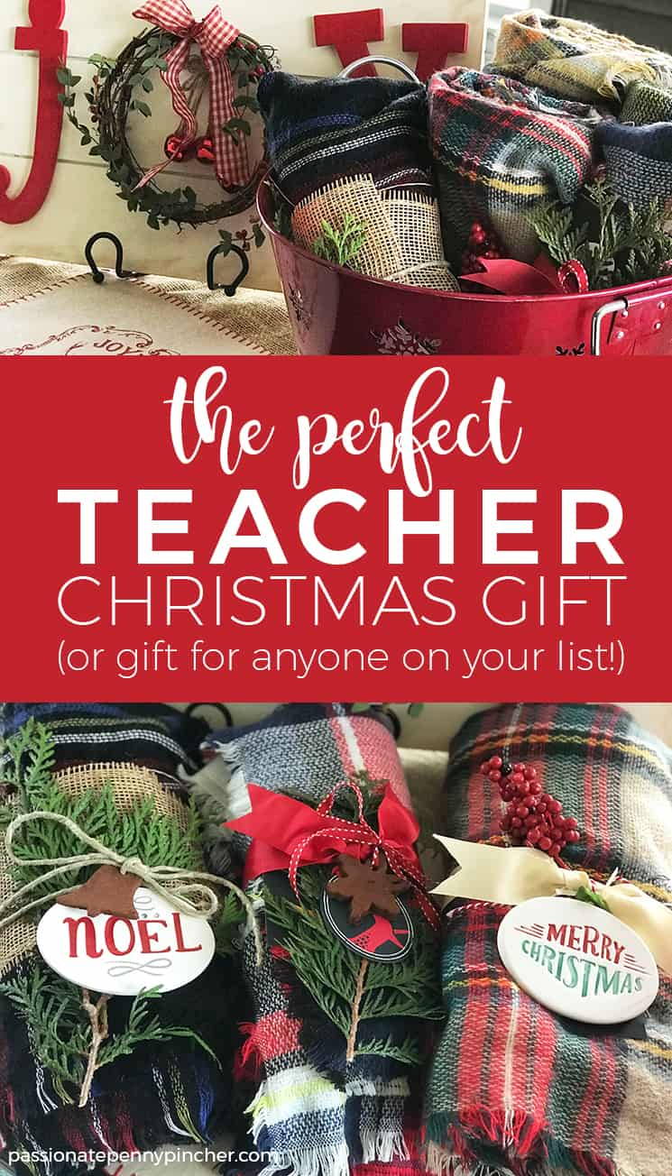 The Perfect Teacher Christmas Gift! If you struggle to find inexpensive but still valuable gifts for everyone on your list, check out this affordable and easy gift idea!