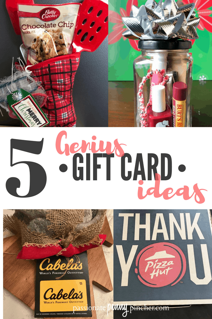 Christmas is almost here, so we think you're going to love these 5 Genius Gift Card Giving Ideas for women, men and families!
