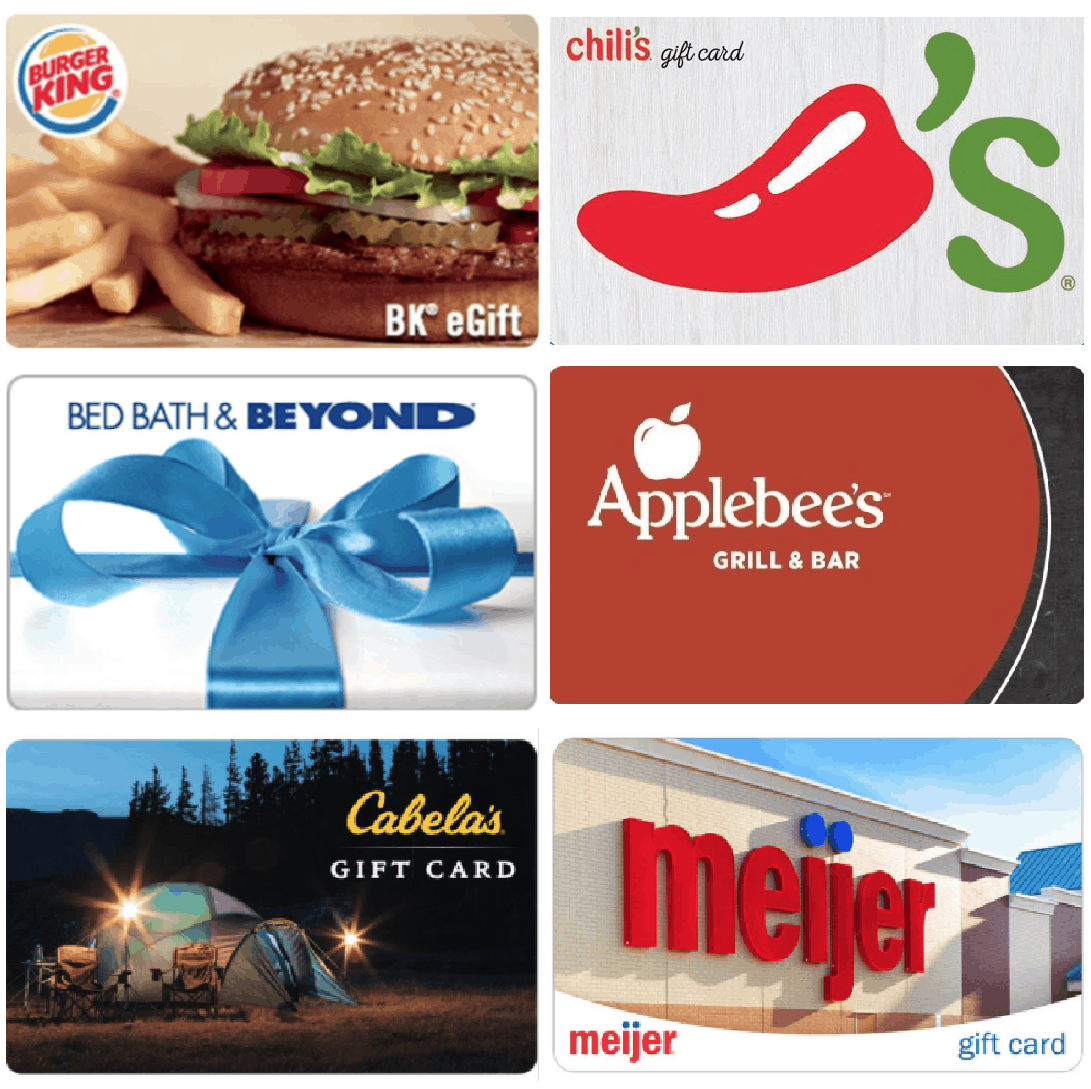 Gift Card Savings Burger King Chilis Cabelas And