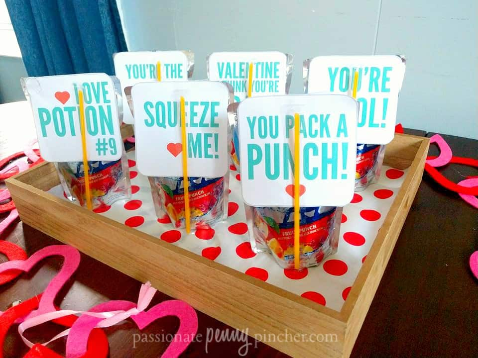 This cute Valentine juicebox printable will make a perfect party favor for your child's class - and avoid any issues with food allergies!