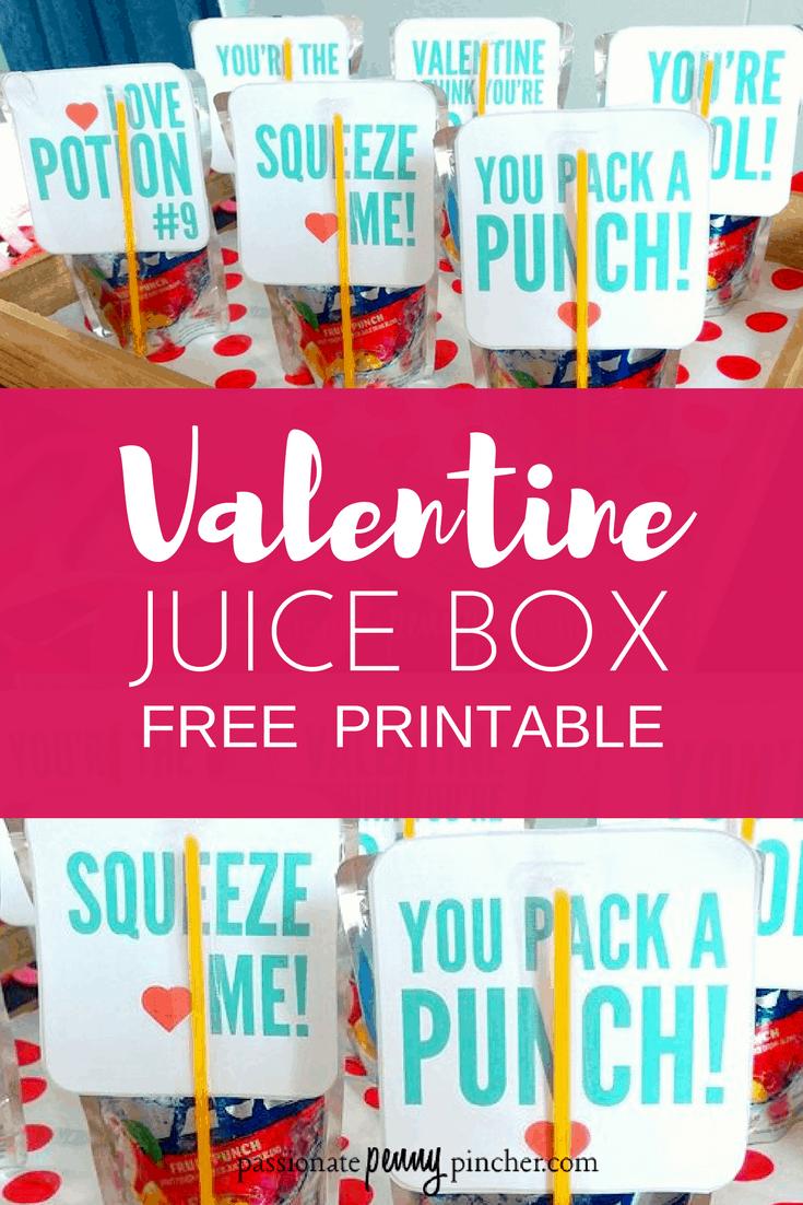 juice box valentines