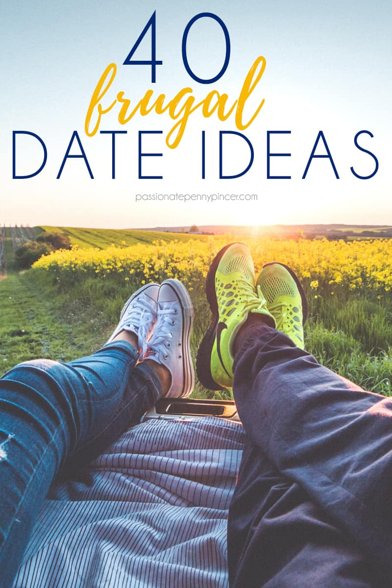 Looking for some GREAT date night ideas? Here's 40 FRUGAL ideas to head out (or in) with your sweetheart!!