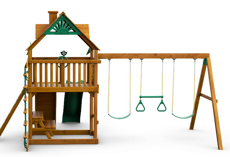 Black One Size for wooden swing sets new Playset Anchor Pack 4Piece