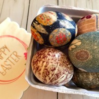 Silk Tie Easter Eggs for Farmhouse Fall Decor (Just GORGEOUS!)