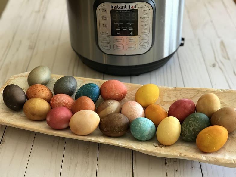 natural easter egg dyes Finished