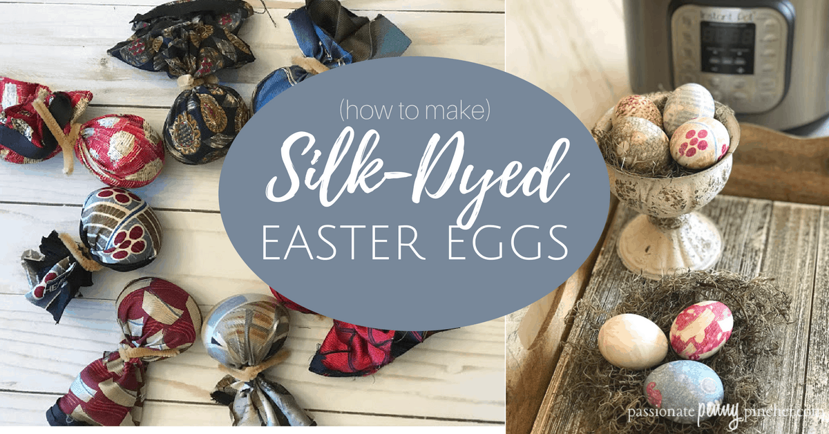 This is such a cool egg dying technique using silk - check out how to dye Easter eggs with silk ties or scarves!