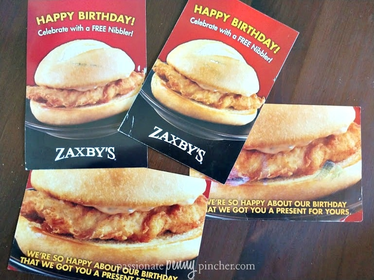 Coupons for Zaxby's