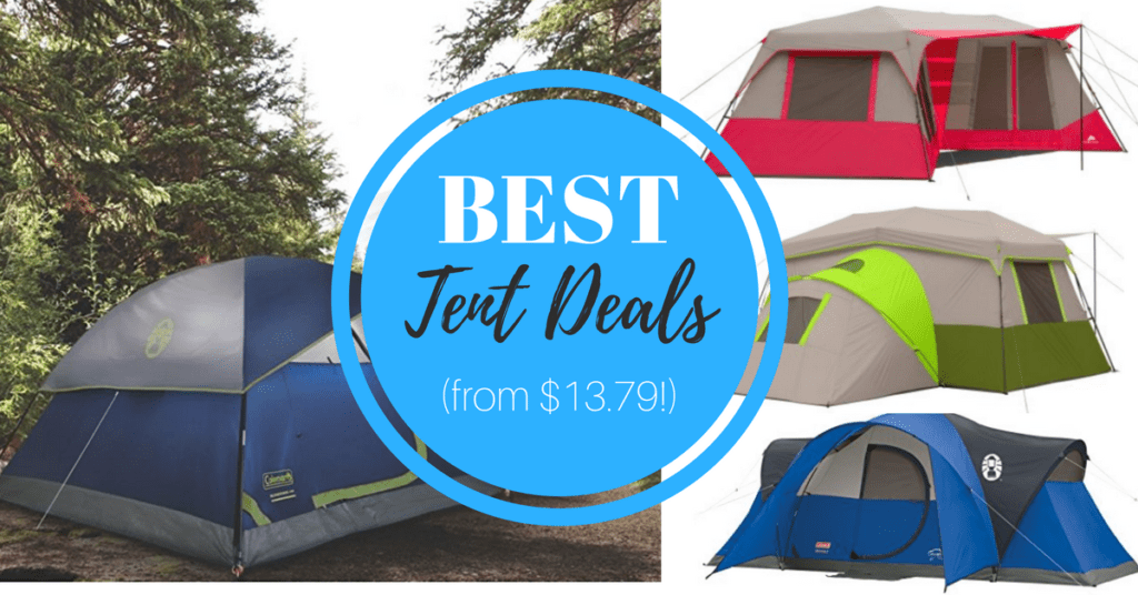 Planning an upcoming camping trip and looking for the best online tent deal?  These are the best camping tent clearance finds we spotted, all in one place!