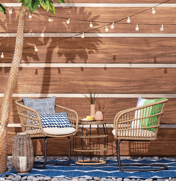 There a lot of Target patio furniture on sale right now - plus save even more with this code!