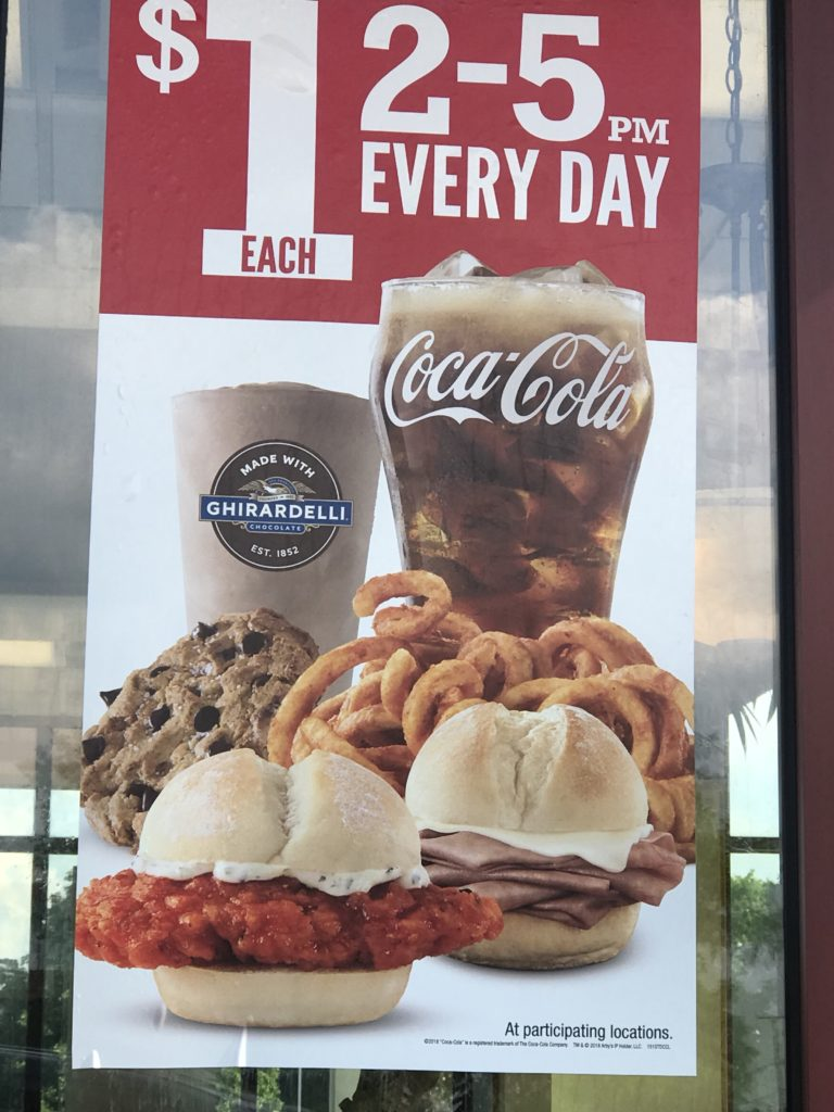 Fast Food Happy Hour Arby's $1 Deals