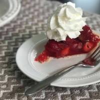 strawberry pie on plate