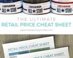 Retail Price Cheat Sheet