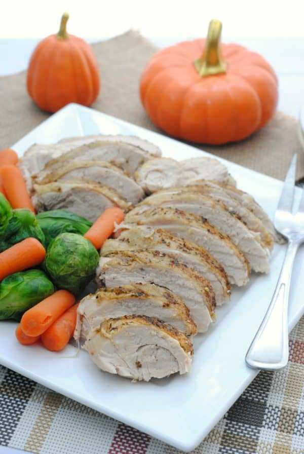 Finished Turkey Breast on Plate