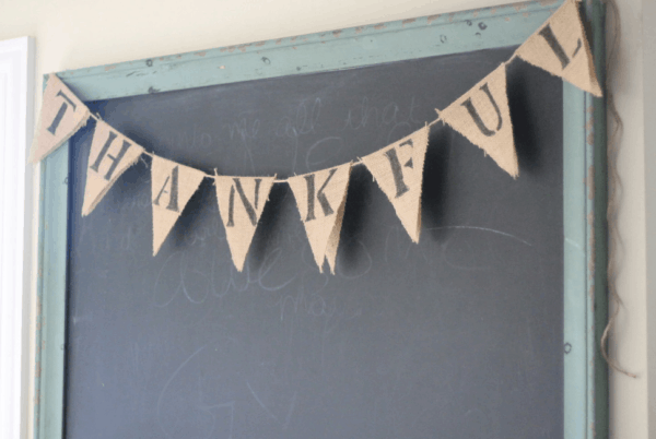 No Sew Banner for Fall Decor