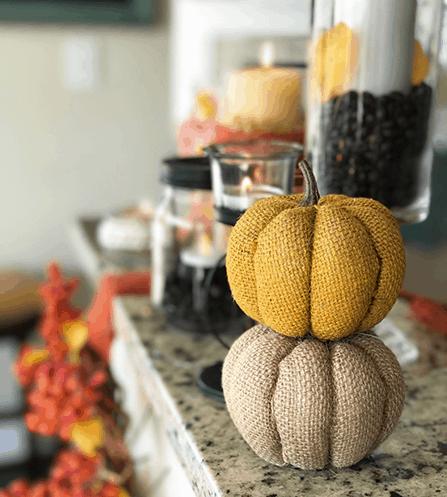 DIY Fall Decor using Dollar Tree Items