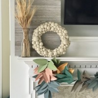 DIY Paper Garland for Fall (SO Inexpensive and GORGEOUS!)