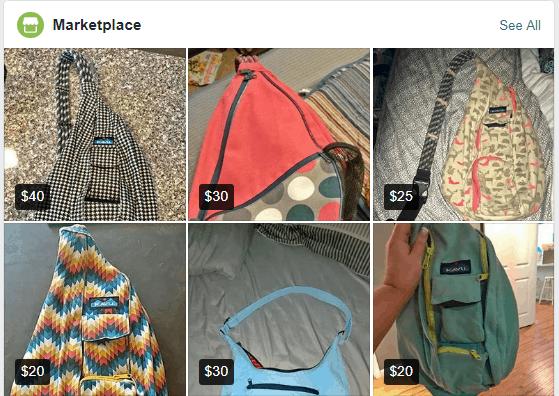Kavu Bags on Facebook Marketplace