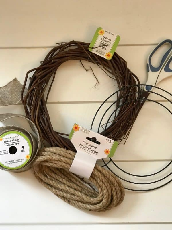 Dollar Tree DIY Rope Wreath