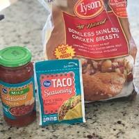 Slow Cooker Chicken Tacos: Crocktober Day 8