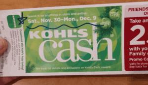 In Store Kohl's Cash