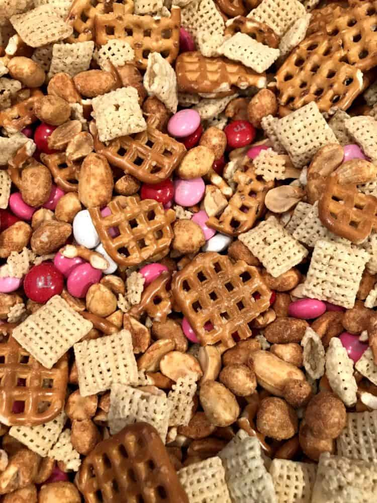 White Chocolate Chex Mix Dry Ingredients