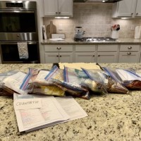 Eat at Home Freezer Cooking Challenge Update: 8 Meals In Under 1 Hour?