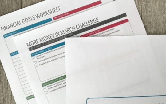More Money Challenge Worksheets